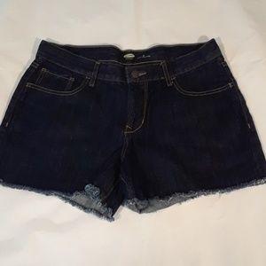 Old Navy Women's Denim Shorts 8 regular dark blue